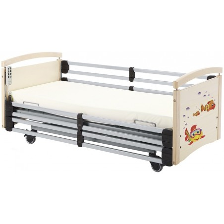 Junior bed RAL 7035 with white end boards