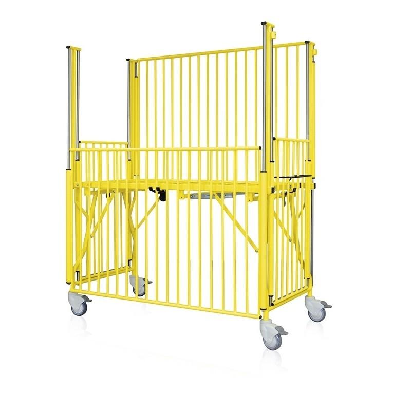 Lit parc SE 3512 - RAL 1018 - 4 barrières coulissantes (option)