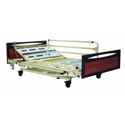 """Euro Fortissimo LM 3252 - RAL 1013 with """"Main courante"""" end boards (cherry wood work) with bariatric metal side"""