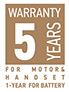 Warranty 5 years - Vilgo